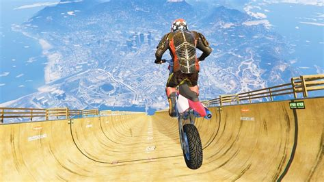 GTA 5 Crazy Jumps with Motorcycle #1 (GTA 5 Fails Funny