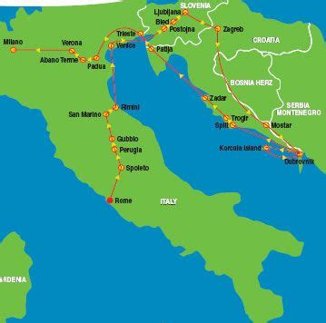 22 day tour - Italy, Slovenia, Croatia -- this would be