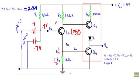 TTL NAND gate with Totem Pole Output - YouTube