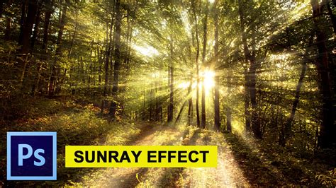 Sunray Sunbeam Effect in Photoshop [ Tutorial for