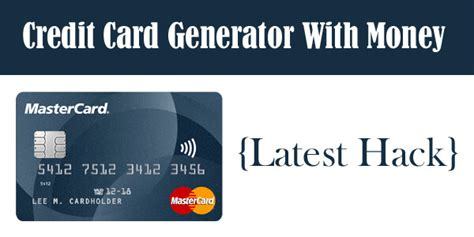 Credit Card Generator That Works On Wish | Gemescool