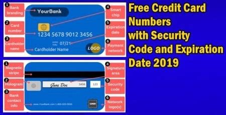 Fake credit card numbers with expiration date and cvv