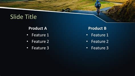 Free Outdoor Cycling PowerPoint Template - Free PowerPoint